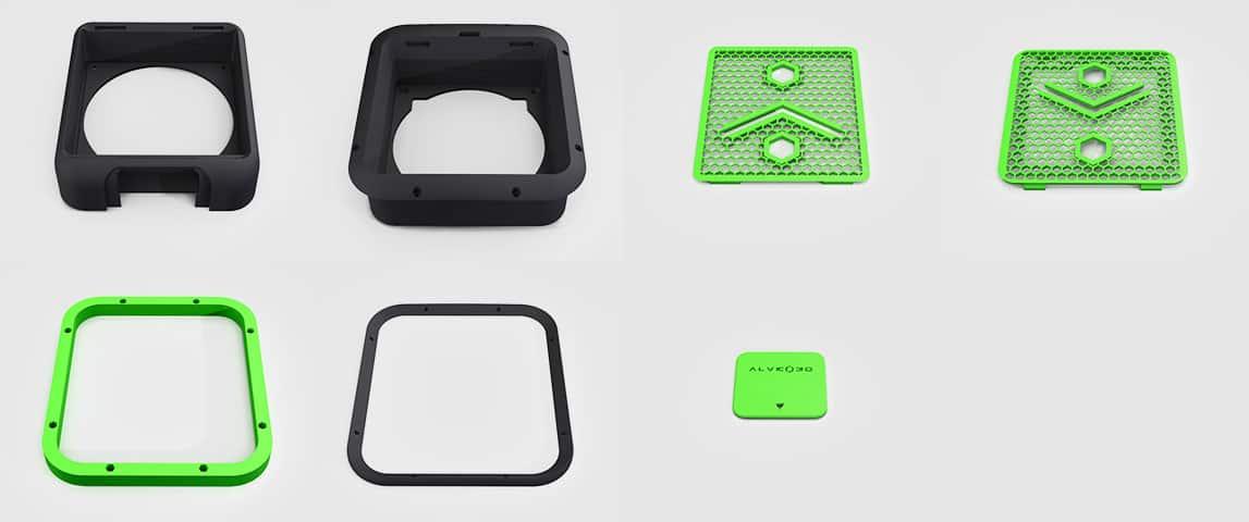 7 pièces imprimées alveoONE