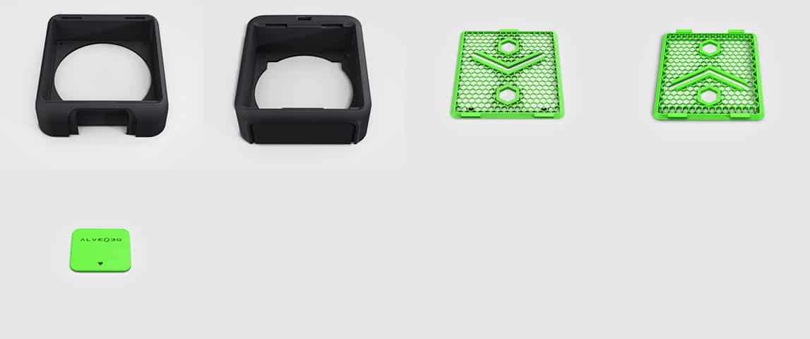 5 pièces imprimées alveoONE-R