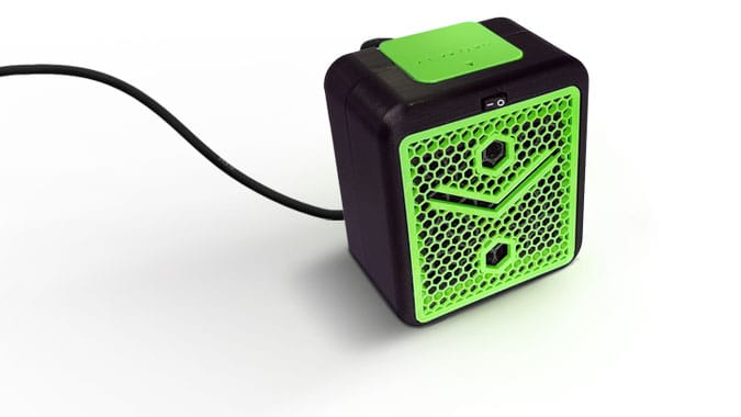 alveoONE-R noir et vert avec fil électrique