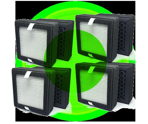 pack de 4 filtres P3D