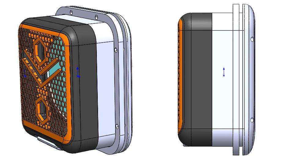 Vue en 3D de la première version d'alveoONE