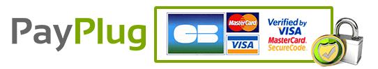 Logo paiement payplug CB 3DSecure