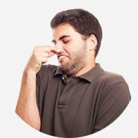 des odeurs désagrables et irritantes