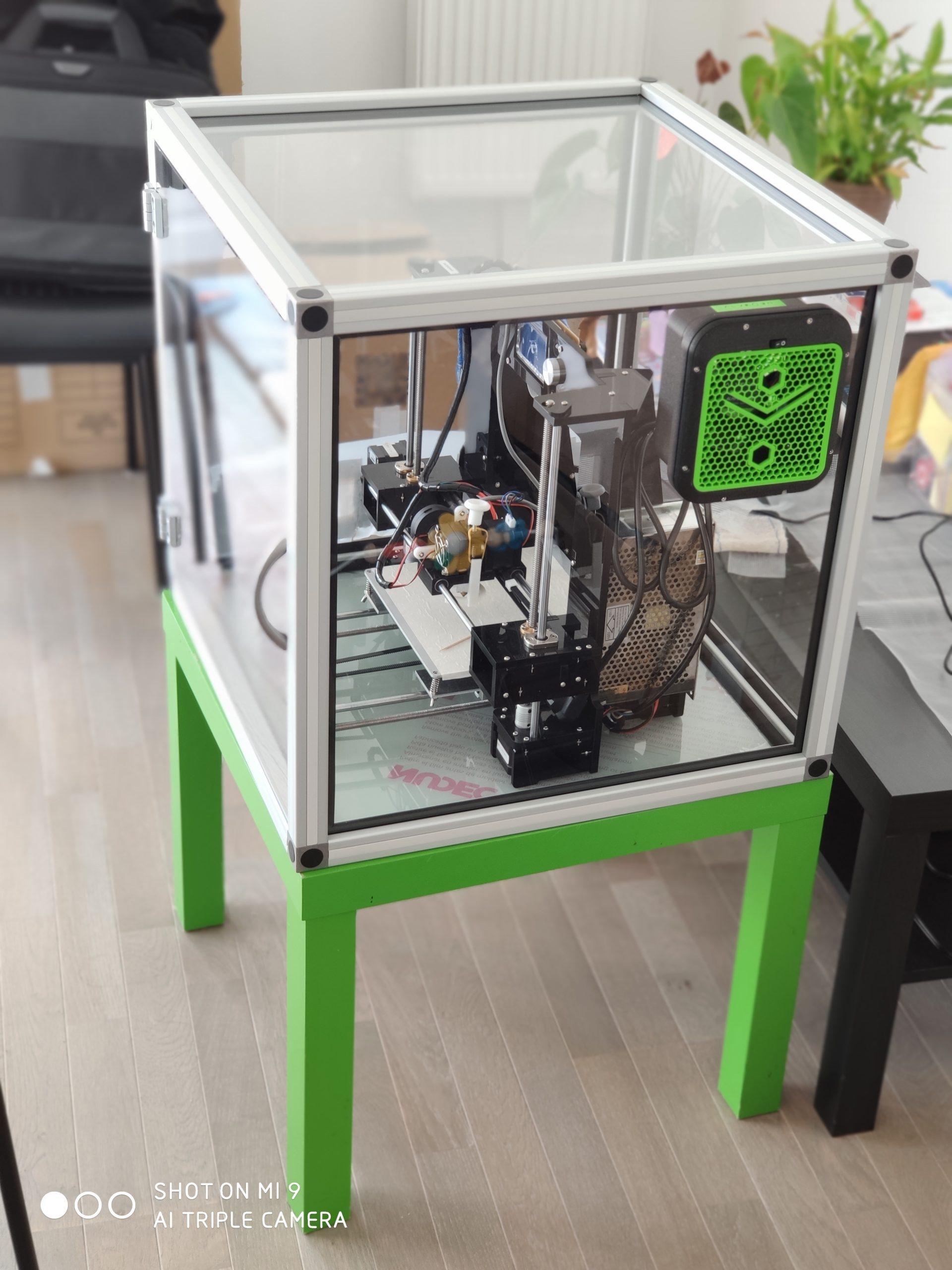 caisson imprimante 3d avec boîtier alveoONE
