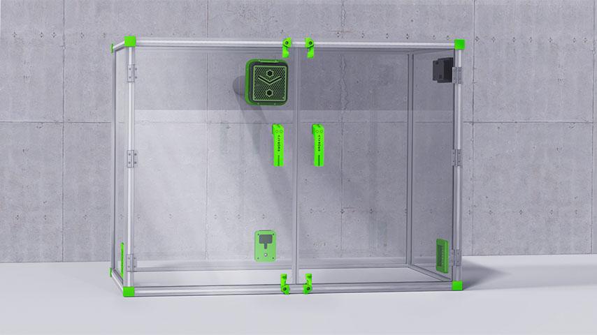 Caisson réalisation 3D