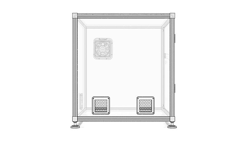 positioning air intake grid